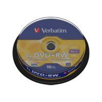 DVD VERBATIM DVD+RW 4.7GB 10PK P10 Spind