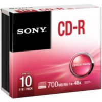 CD-R SONY 700Mb Slim case X10
