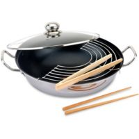 Wok BAUMALU inox diam 32 cm induction 34