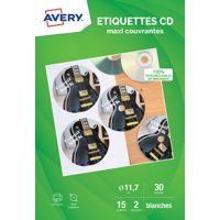 Etiquette AVERY 30 Etiquettes CD