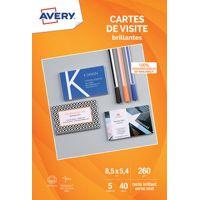 Carte AVERY 40 Cartes de visite 85x54mm