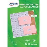 Etiquette AVERY 780 Mini-etiquettes