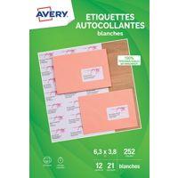 Etiquette AVERY Etiquettes adressage 63.