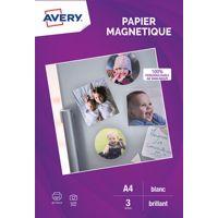 Papier AVERY 3 Papiers magnétiques brill