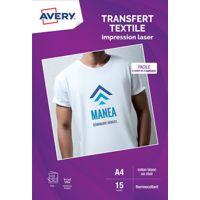Papier AVERY 15 Transferts T-shirt blanc